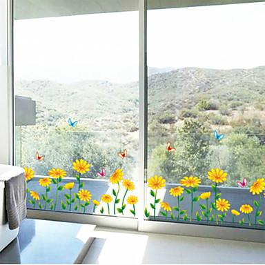 Kasvitieteellinen Kukkakuviot Maisema Wall Tarrat Lentokone-seinätarrat Koriste-seinätarrat materiaali Siirrettävä Kodinsisustus