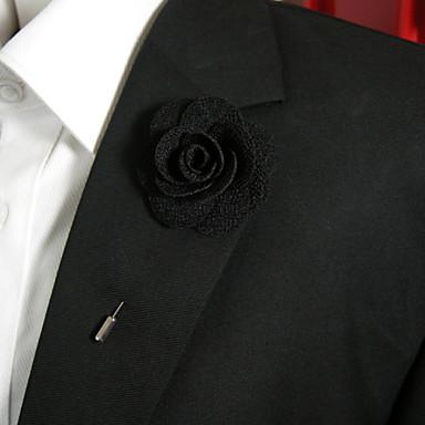 Damen Broschen - Blume Stilvoll Brosche Schwarz / Orange Für Alltagskleidung