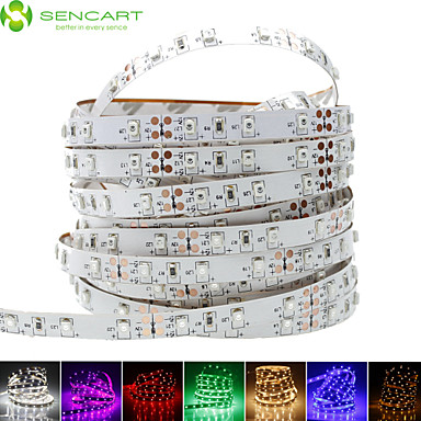 SENCART Flexible LED-Leuchtstreifen 60 LEDs Warmes Weiß Weiß Lila Grün Gelb Blau Rot Schneidbar Abblendbar Selbstklebend Für Fahrzeuge