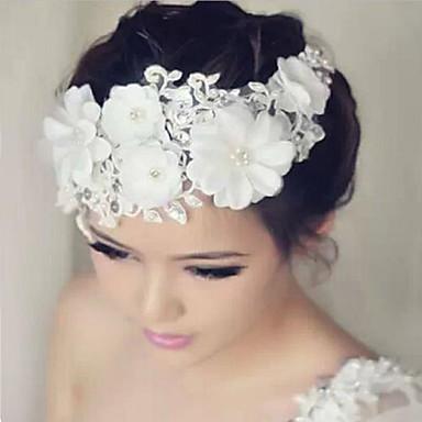 levne Ozdoby do vlasů na večírek-Krajka / Štras Květiny s 1 Svatební / Zvláštní příležitosti Přílba