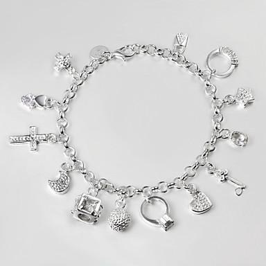 Zincir & Halka Bileklikler Günlük Gümüş Kaplama Mücevher Kostüm takısı Gümüş