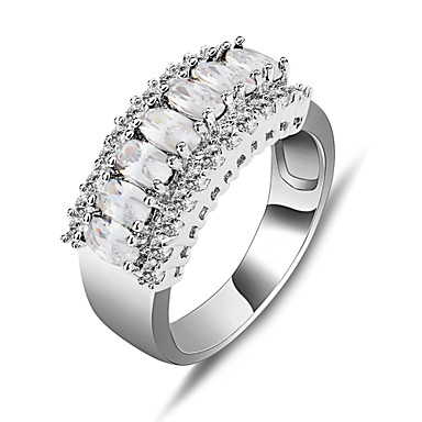 Женский Массивные кольца Мода Синтетические драгоценные камни Циркон Цирконий Искусственный бриллиант Бижутерия Назначение Свадьба Для
