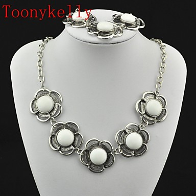 Women's Jewelry Set Necklace / Bracelets & Bangles - White For Wedding / Party / Daily