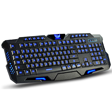 Wired Multicolor Backlit 114 pcs Gaming Keyboard Programmable / Backlit USB Port powered