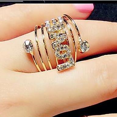 Damen Statement-Ring - Kubikzirkonia, Diamantimitate, Aleación Stern, Liebe Modisch Eine Größe Für Party