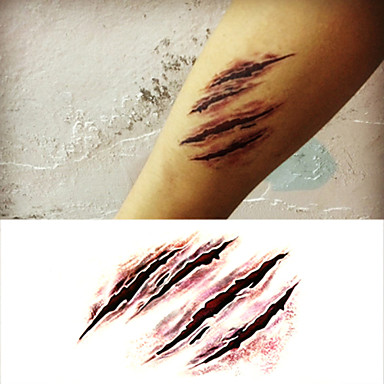 Ordinato 1 Pcs Tatuaggi Temporanei Impermeabile - Non Toxic - Halloween Carta Tatuaggi Adesivi - Fascia Lombare - Waterproof #03458522