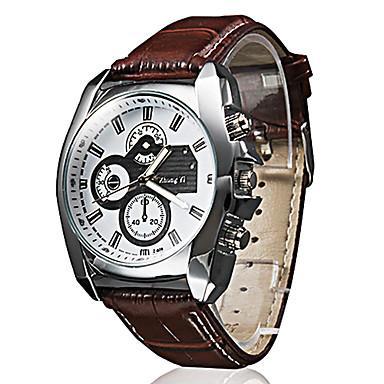 Herrn Quartz Armbanduhr Armbanduhren für den Alltag PU Band Freizeit Schwarz Braun