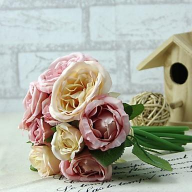 billige Kunstige blomster-Kunstige blomster 1 Gren Bryllupsblomster Peoner Bordblomst