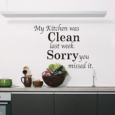 duvar çıkartmaları duvar çıkartmaları tarzı mutfak temiz ingilizce kelime&pvc duvar çıkartmaları tırnak