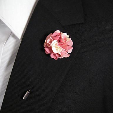 Herrn / Damen Blume Broschen - Stilvoll Rosa und Weiss Brosche Für Alltagskleidung