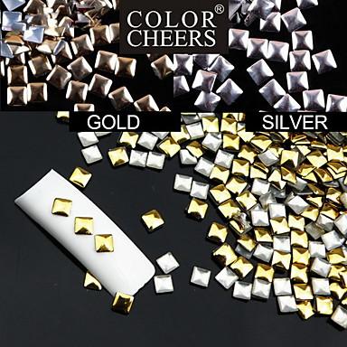 Punk 50buc Piața Rivet aliaj Nail Art Decoratiuni de 3mm (culori asortate)