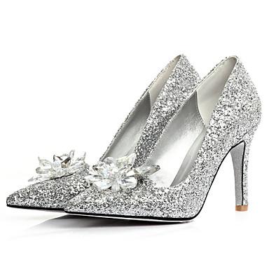 Γυναικεία παπούτσια - Μπαλαρίνες - Γάμος / Φόρεμα - Τακούνι Στιλέτο - Με Τακούνι / Μυτερό - Γκλίτερ - Ασημί