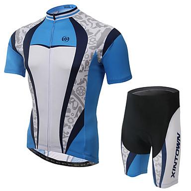 Maillot et Cuissard de Cyclisme Homme Manches courtes VéloRespirable Séchage rapide Perméabilité à l'humidité Bandes Réfléchissantes