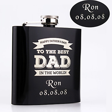 Stainless Steel Hip Flasks Bride Groom Bridesmaid Groomsman Congratulations