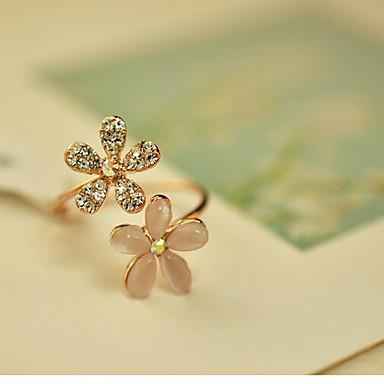 Damen Statement-Ring Gold Kubikzirkonia Diamantimitate Opal Aleación Einstellbar Party Modeschmuck