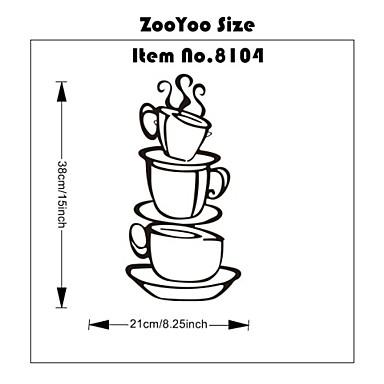 Van egy csésze kávét üzlet fala matricák otthoni dekoráció zooyoo8104 konyha szoba kivehető vinil fal művészeti DIY