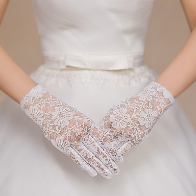 Lace Wrist Length Glove Bridal Gloves Party/ Evening Gloves