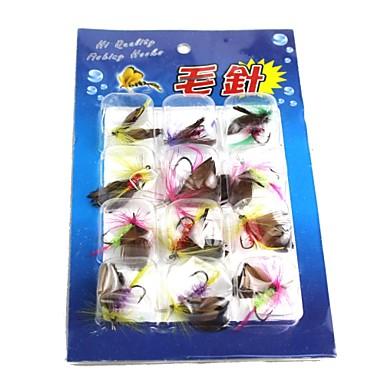 Fliegen Angelköder Haken Angeln - 12 Stück PVC Metal - Seefischerei Fischen im Süßwasser Angeln Allgemein Spinnfischen