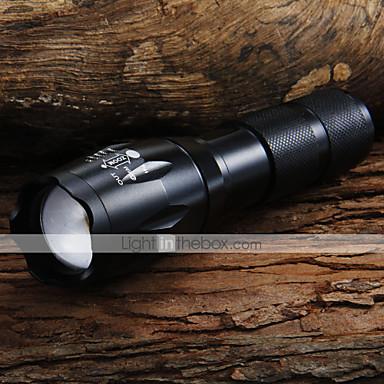 UltraFire LED Flashlights Lanterne LED LED 1600 lm 5 Mod LED Cu Baterie și Încărcător Zoomable Focalizare Ajustabilă