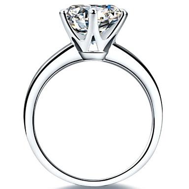 Női Vallomás gyűrűk Klasszikus Ezüst Platina bevonat Hatágú Ékszerek