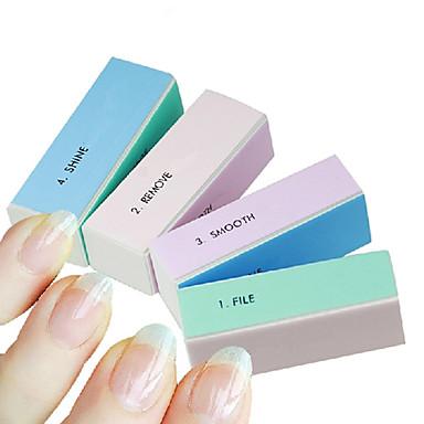 voordelige Nagelgereedschap & Apparatuur-1pcs 4-weg multi-color nail art polijsten blok schuren bestanden