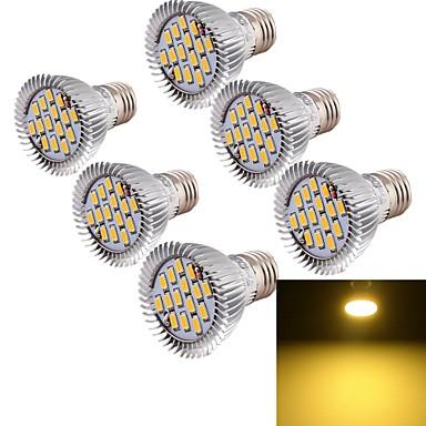 YouOKLight 6pcs 700lm E26 / E27 LED Spotlight MR16 15 LED Beads SMD 5630 Decorative Warm White 85-265V