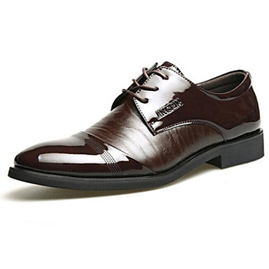 Men's Shoes Leather Spring Summer Fall Winter Lace-up For Casual Office & Career Party & Evening Black Brown