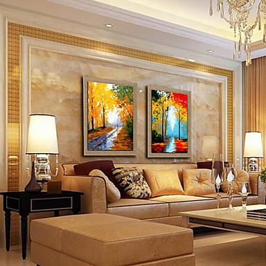 Hang-Malowane obraz olejny Ręcznie malowane - Krajobraz Klasyczny Brezentowy
