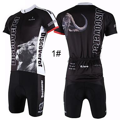 ILPALADINO Herrn Kurzarm Fahrradtriktot mit Fahrradhosen - 4 # / 5 # / 6 # Tier Fahhrad Shorts / Laufshorts / Trikot / Radtrikot / Kleidungs-Sets, Rasche Trocknung, UV-resistant, Atmungsaktiv Tier