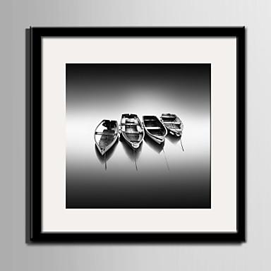Maisema Kehystetty kanvaasi / Kehystetty setti Wall Art,PVC Maalattu Mukana taustalevy Frame Wall Art