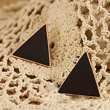 κλασικό έγχρωμο σμάλτο τριγωνικό σκουλαρίκι κλασικό θηλυκό στυλ