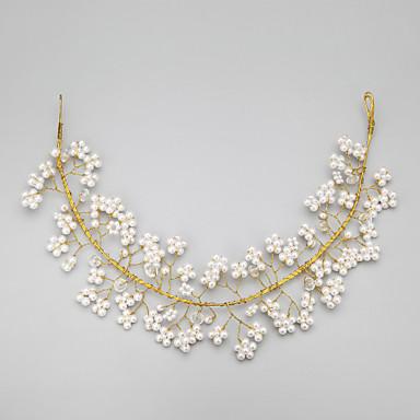 Women's Flower Girl's Crystal Alloy Imitation Pearl Headpiece-Wedding Special Occasion Headbands 1 Piece