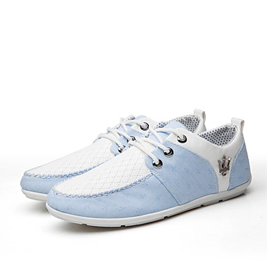 Men's Shoes Canvas Winter Spring Summer Fall Lace-up for Casual Office & Career Gray Blue