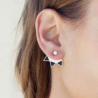 Damen Ohrstecker - Modisch Simple Style Gold Silber Geometrische Form Ohrringe Für