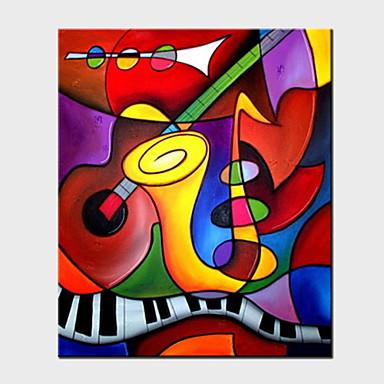Kézzel festett Absztrakt Függőleges panoráma, Absztrakt Hang festett olajfestmény lakberendezési Egy elem