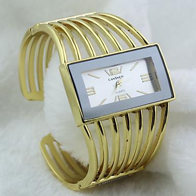 Bayanların Moda Saat Quartz Alaşım Bant Halhal Altın Rengi Siyah/Altın Beyaz/Altın