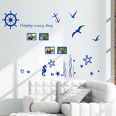 Wall Stickers Wall Decals Style Ocean Biology PVC Wall Stickers