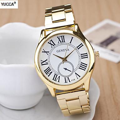 Bayanların Moda Saat Quartz Tasarımcı İsviçre Alaşım Bant Altın Rengi