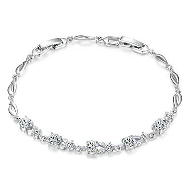 Damen Kristall Tennis Armbänder - Krystall, Kubikzirkonia Luxus Armbänder Silber Für Hochzeit / Party / Alltag