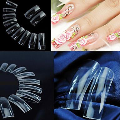 500 pcs Jumătăți de Vârfuri de Unghii / Unghii False Integrale Abstract / Nuntă / Modă Zilnic Nail Art Design / Plastic