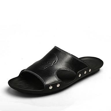 Erkek Ayakkabı Sentetik Yaz Uyumluluk Günlük Beyaz Siyah
