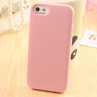 Case For iPhone 5 iPhone 5 Case Other Back Cover Solid Color Soft TPU for iPhone SE/5s iPhone 5
