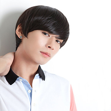 Handsome Wig Hair Han Edition Men's Wig Boys Non-Mainstream Male Hair Fleeciness Realistic Wig Male Money Wholesale