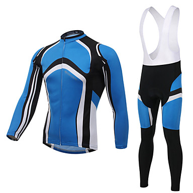 XINTOWN Men's Long Sleeve Cycling Jersey with Bib Tights Bike Bib Shorts / Jersey / Bib Tights, 3D Pad, Ultraviolet Resistant, Wearable