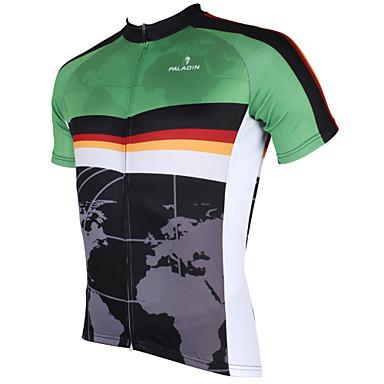 ILPALADINO Ανδρικά Κοντομάνικο Φανέλα ποδηλασίας - Μαύρο Ποδήλατο Αθλητική μπλούζα, Γρήγορο Στέγνωμα, Υπεριώδης Αντίσταση, Αναπνέει