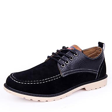 Hombre Zapatos Cuero Sintético Primavera / Otoño Confort Oxfords Paseo Negro / Amarillo / Marrón OaMGF