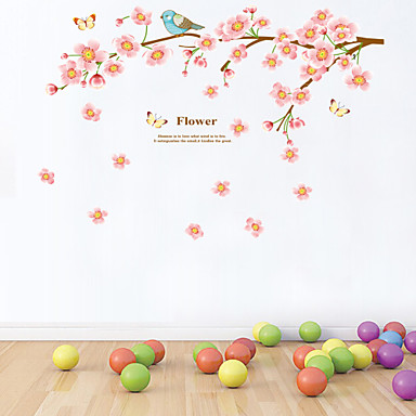 Stickers muraux Autocollants muraux décoratifs - Autocollants avion Animaux Floral Bande dessinée Botanique Amovible Lavable
