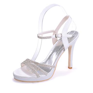 Satin amp; 03736499 Soirée Rose Bleu Printemps Talon Chaussures Femme Eté Evénement Mariage Aiguille Ivoire 5qwSxR