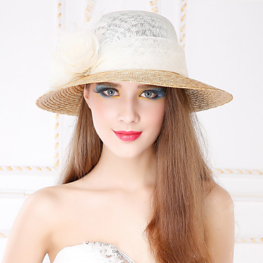 Women's Basketwork Flax Headpiece-Casual Outdoor Hats 1 Piece