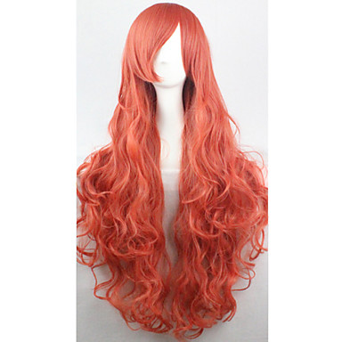 Synthetic Hair Wigs Curly Capless Cosplay Wig Red